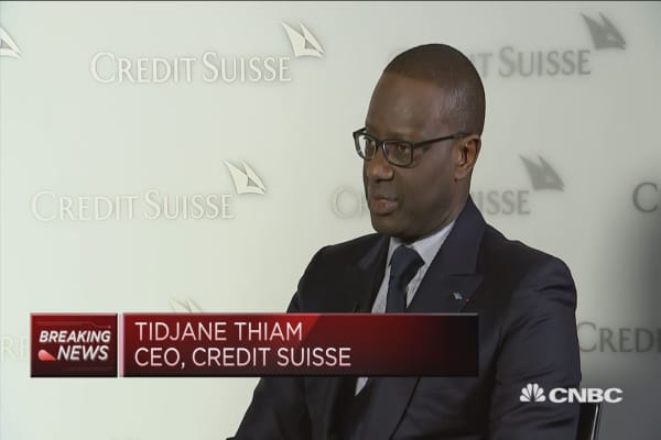 We basically added 2 billion euros of profit, says Credit Suisse CEO