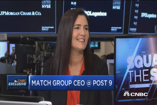 Match Group CEO: Over 30% of relationships start on apps