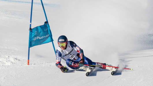 Ted Ligety training in Alta Badia Italy shortly before the Olympics.