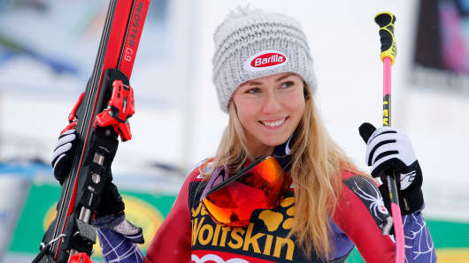 US Alpine skier Mikaela Shiffrin.