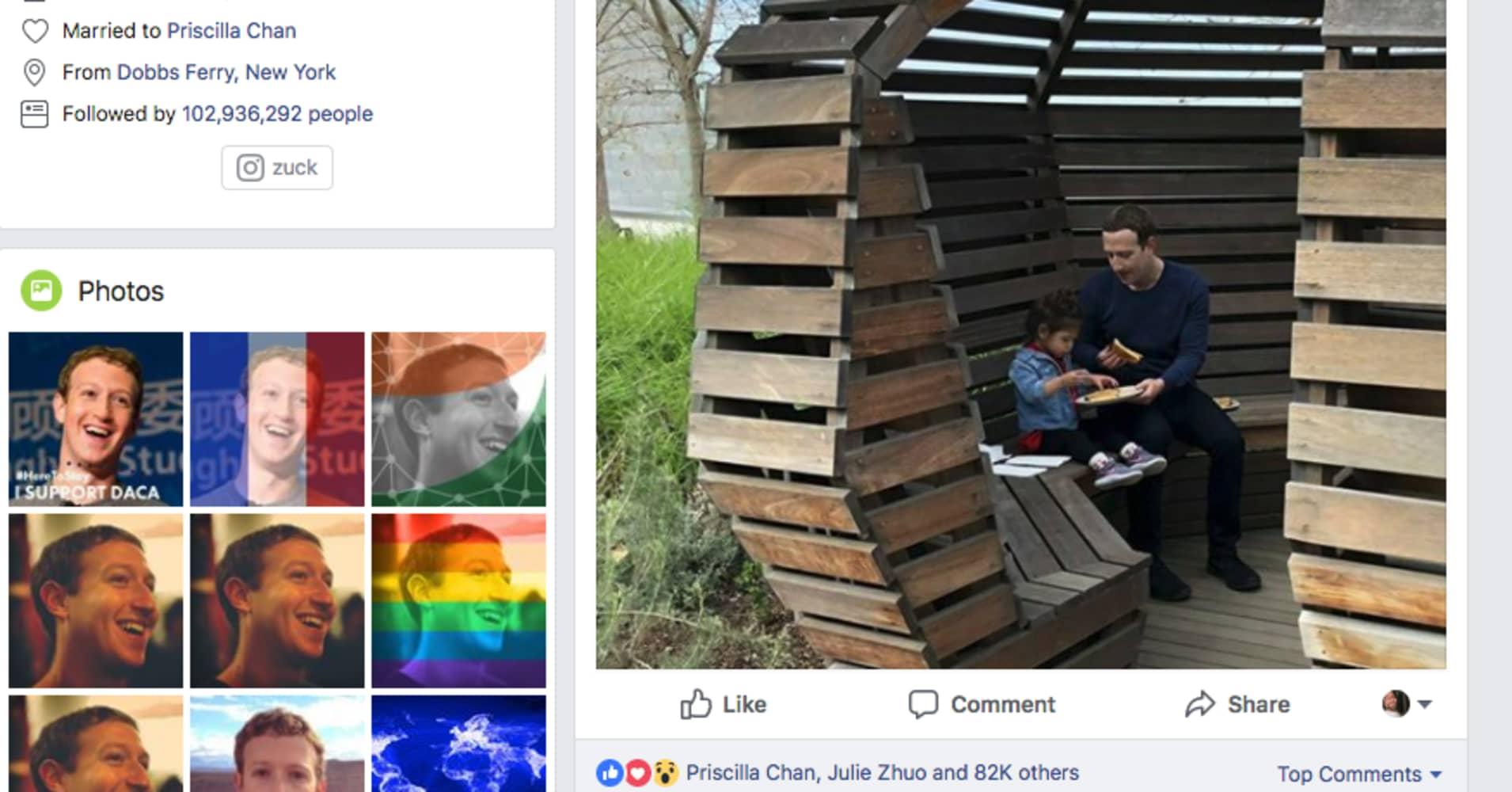 Mark Zuckerberg's Valentine's Day photo got spammed after Facebook blocked an Ethiopian activist
