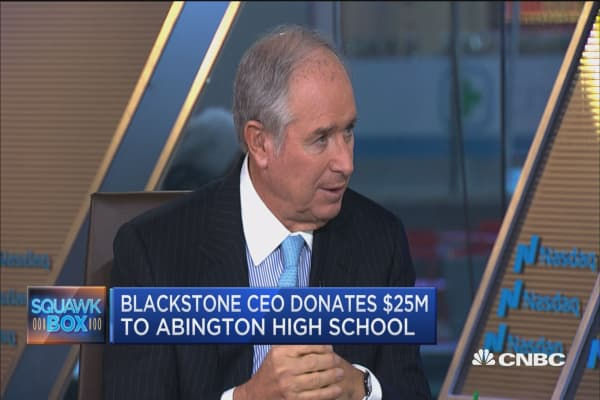 Blackstone CEO: We need to prepare students for world we live in