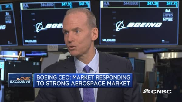 Boeing CEO: Market responding to strong aerospace market