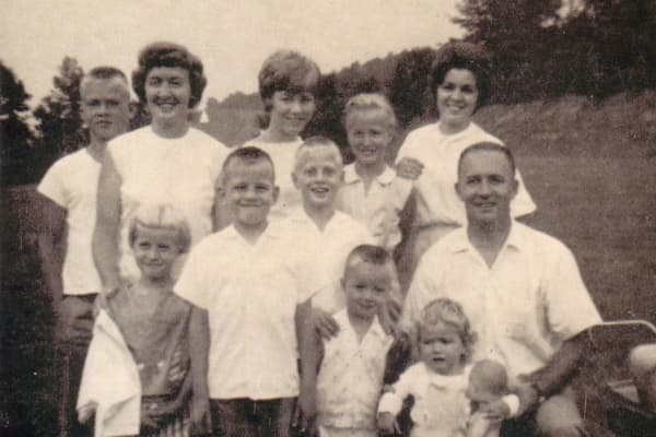 Barbara Corcoran (top row center) and her family