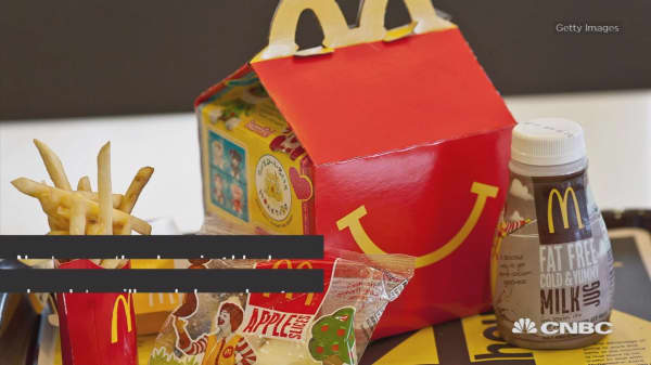 McDonald's is slimming down its Happy Meal menu