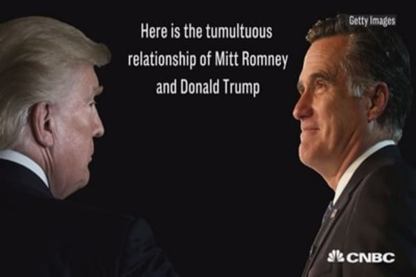 Here is the tumultuous relationship of Donald Trump and Mitt Romney
