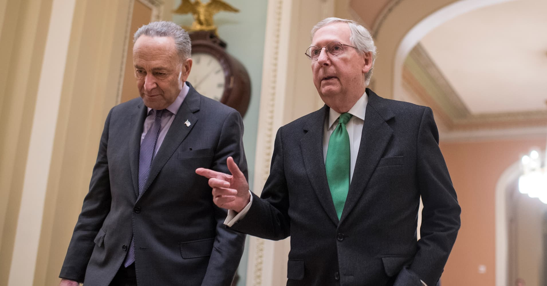 Chuck Schumer and Mitch McConnell re-elected as Senate picks leadership for next Congress