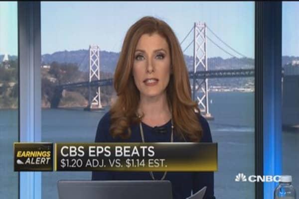 CBS beats the Street