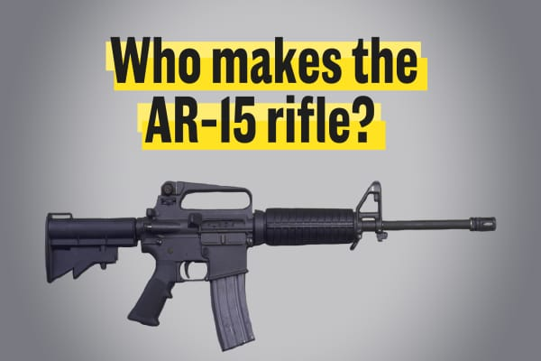 Who makes the AR-15 rifle?