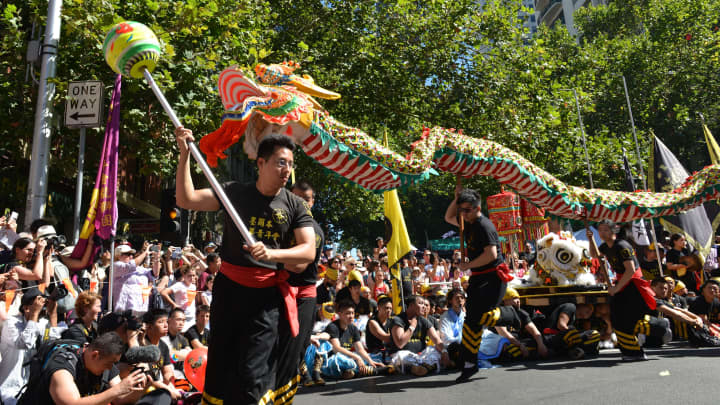 Celebrations for Chinese New Year on January 28, 2017, in Melbourne, Australia.