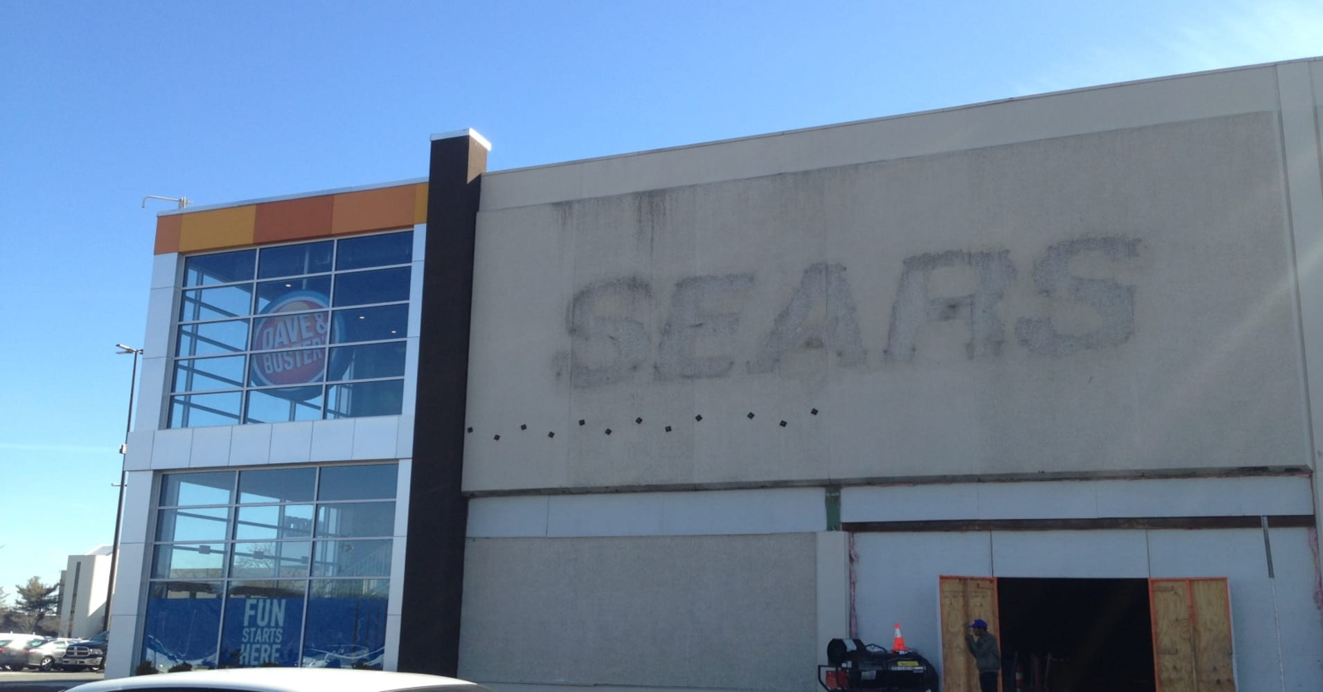 A Dave & Buster's just opened in an old Sears location. Here's what it looks like: