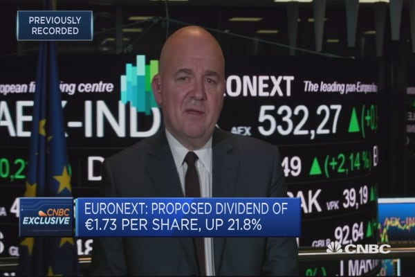 Euronext CEO: Not concerned about stability of capital markets