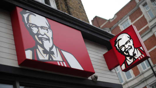 A KFC restaurant in Clapham, south London