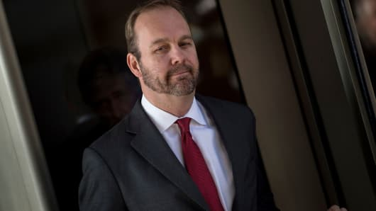 Former Trump campaign official Rick Gates leaves Federal Court on December 11, 2017 in Washington, DC.