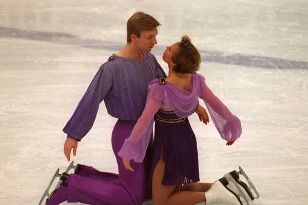 Jayne Torvill and Christopher Dean of Great Britain dance The Bolero in Today's Ice Gala at the 1994 Winter Olympics in Lillehammer.