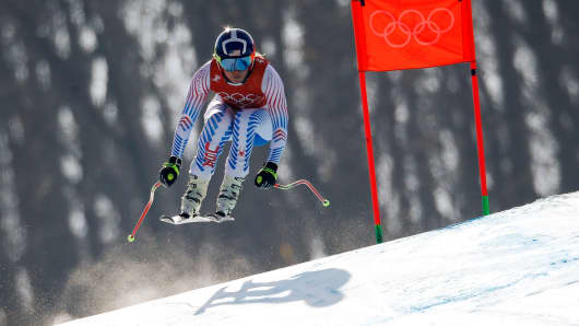 Lindsey Vonn of the U.S. trains.