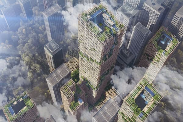 This is what the world's tallest wooden skyscraper will look like