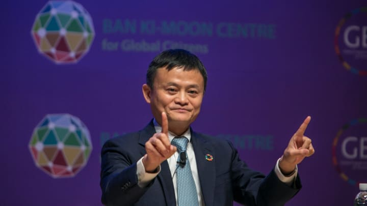 Jack Ma, co-founder and executive chairman of Alibaba Group Holding Ltd.