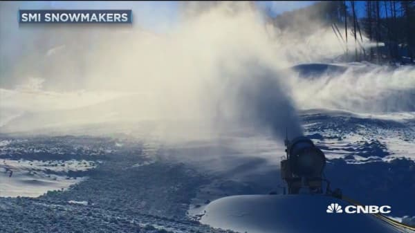 Winter Olympics turns into big business for snowmakers