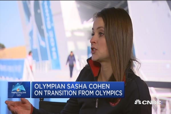 Silver medal winner Sasha Cohen went from the rink to Wall Street