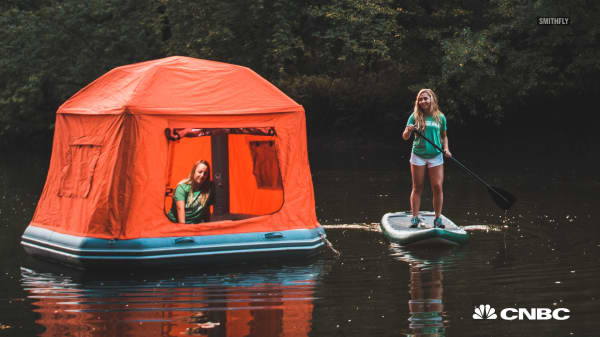This $1,499 inflatable tent that lets you wake up on the water continues to sell out