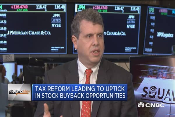 Tax reform leading to uptick in stock buyback opportunities
