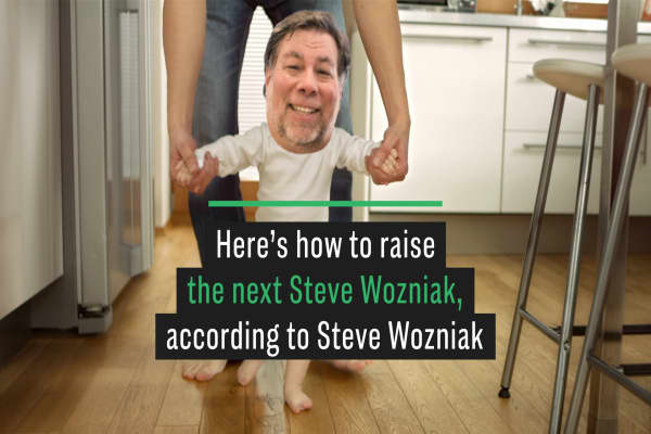 Here's how to raise the next Steve Wozniak, according to Steve Wozniak