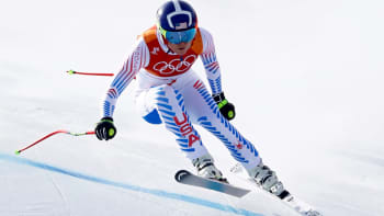 Lindsey Vonn competes in the 2018 Winter Olympics, February 21, 2018.