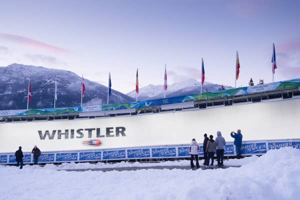 Whistler Sliding Centre in Whistler, British Columbia, Canada
