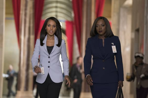 "In their respective corporate jobs, ""Scandal's"" Olivia Pope (L) and ""How to Get Away with Murder's"" Annalise Keating (R) often have to be decisive and direct to get the job done."