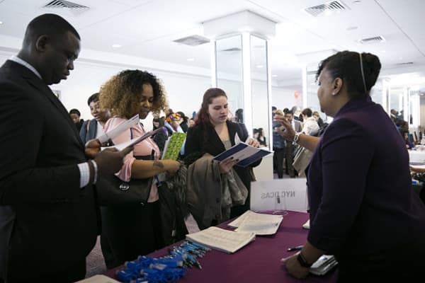 US jobless claims fall to 45-week low
