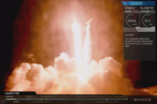 SpaceX launches Falcon 9 to deliver satellites