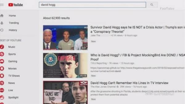 Image of: Ads Youtube Pulls Fake News Video On Florida Shooting Cnbccom Youtube Trending Algorithm Needs Reform