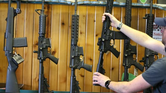 Semi-automatic AR-15's are for sale at Good Guys Guns & Range