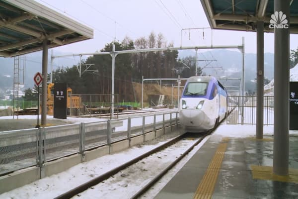 South Korea's new high speed rail line is connecting the country