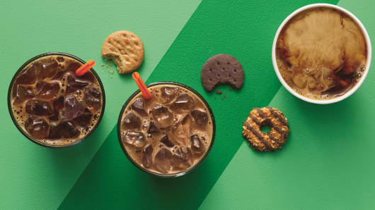 Girl Scout cookies inspired flavored drinks by Dunkin' Donuts