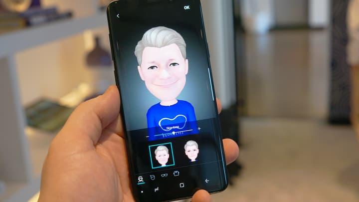 AR Emoji on the Galaxy S9