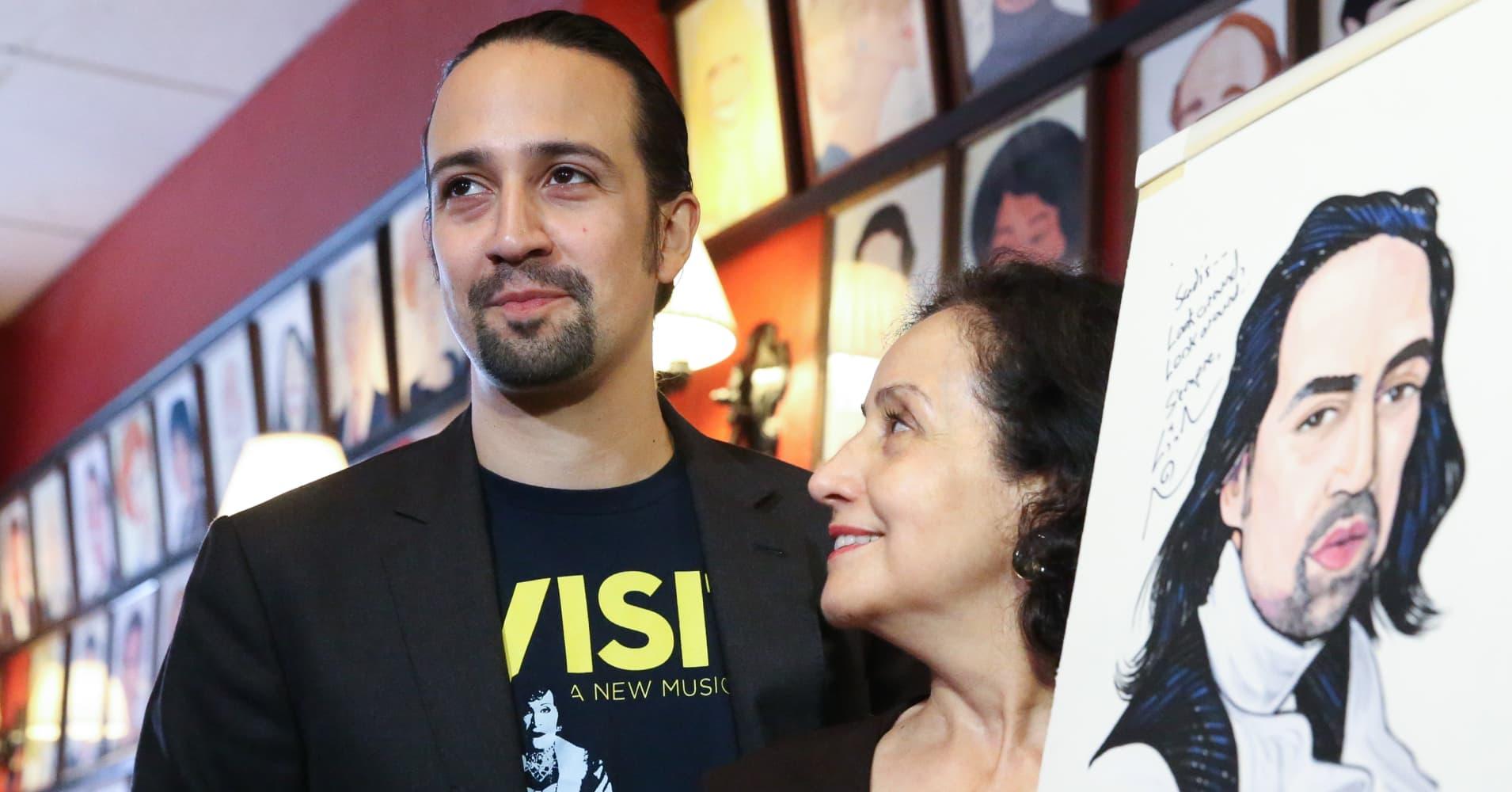Lin-Manuel Miranda with his mother, Luz Miranda
