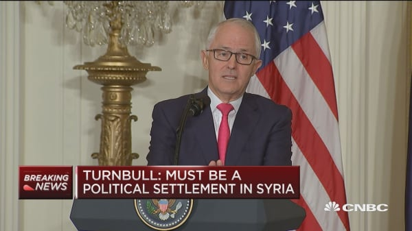 Australia PM: Must be a political settlement in Syria