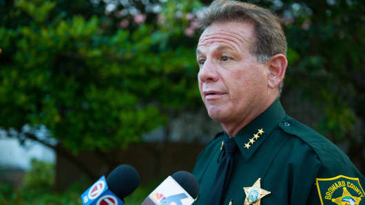 Broward County Sheriff Scott Israel defended his department's response to the Feb. 14 high school mass shooting.