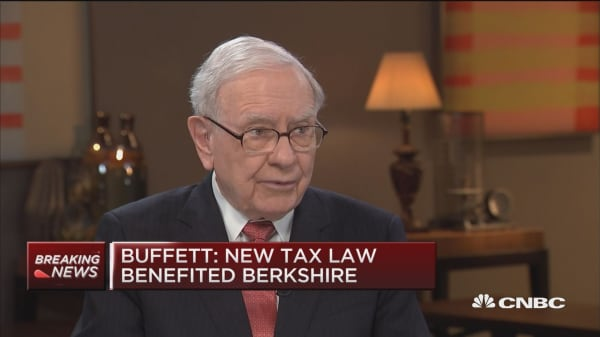 Buffett: New tax law huge tailwind for business