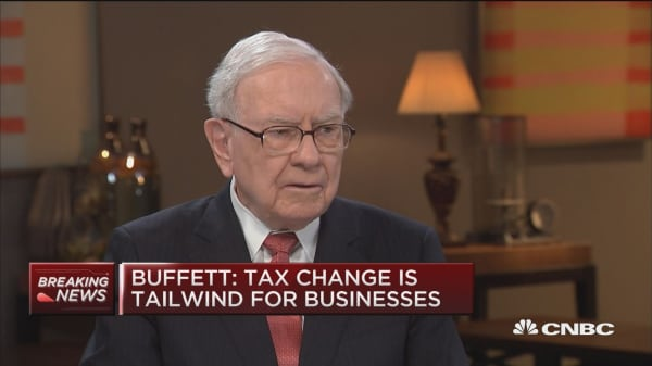 Buffett: Berkshire will save cash from new tax law