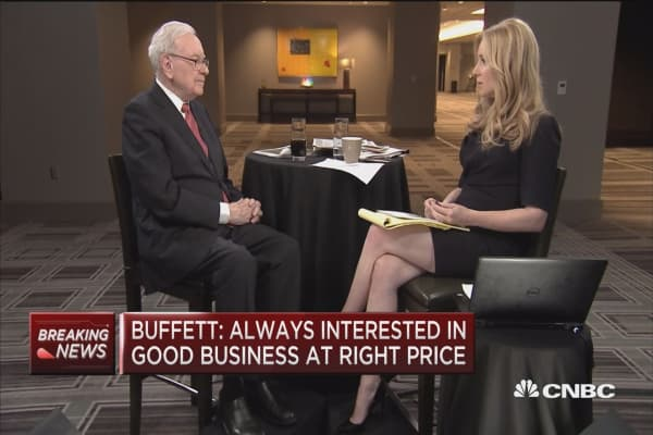 Buffett: I've not given a directive on guns