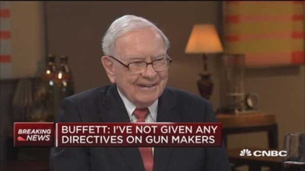 Warren Buffett: 'We've bought more Apple than anything else' in the last year