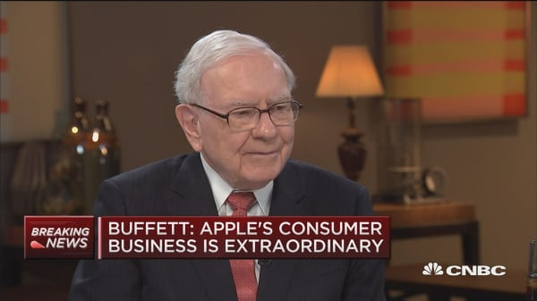 Buffett: Apple's consumer business extraordinary