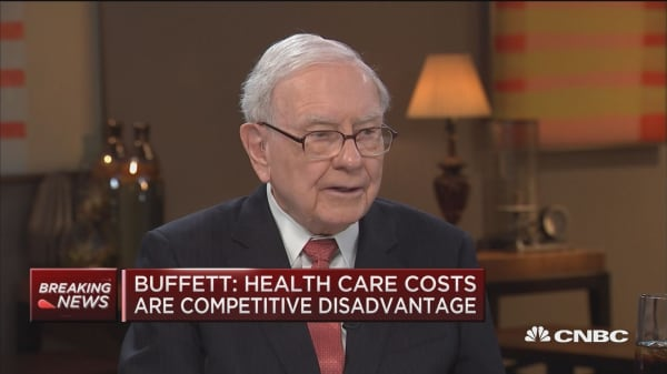 Buffett: I love the idea of tacking health care costs