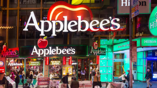 Applebee's restaurant at Times Square in New York City.