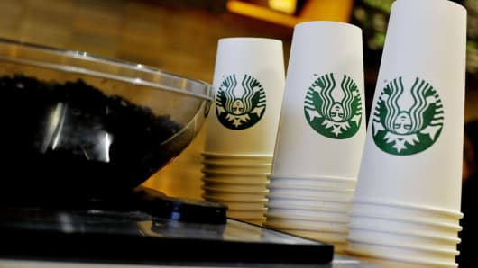 Starbucks Stores in London Test Paper Cup Fee