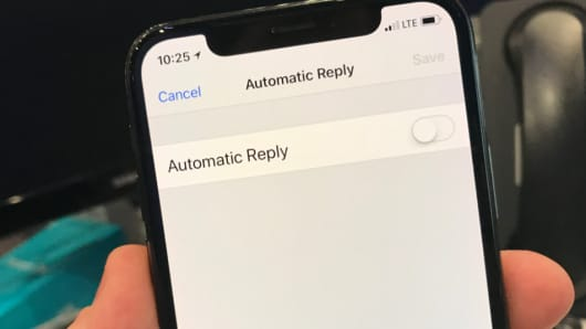 How to set an out-of-office message on your iPhone