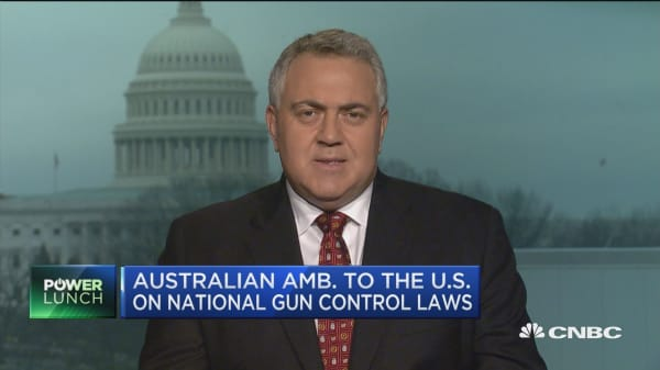 Australian ambassador to US: We won't lecture on gun laws